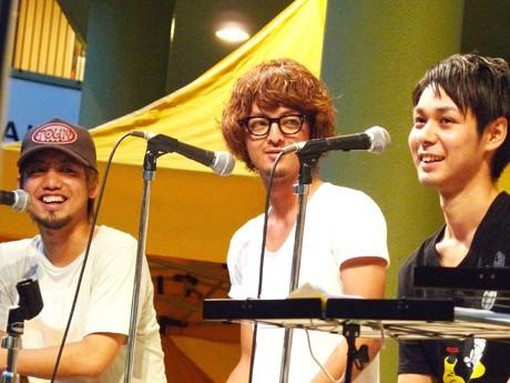 オレンジレンジのHIROKIさん(左)YAMATOさん(中央)NAOTOさん(右)