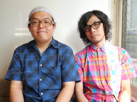左=ギター・ボーカルの斉藤伸也さん、右=ボーカルの山下桂史さん