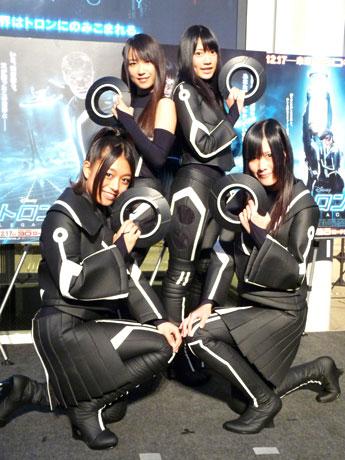 イルミネーション点灯式に登場したSKE48のみなさん。左から山田澪花さん、佐藤聖羅さん、小林亜実さん、高木由麻奈さん