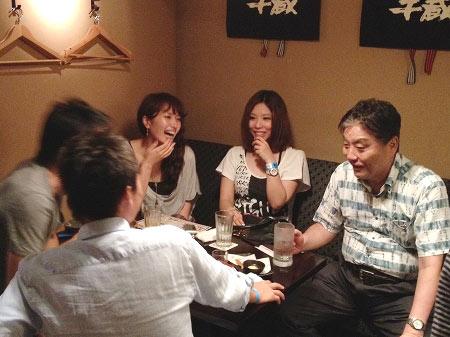 参加者を激励する河村たかし名古屋市長