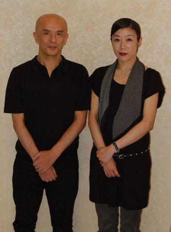 愛知県芸術劇場で新作を上演する勅使川原三郎さんと佐東利穂子さん