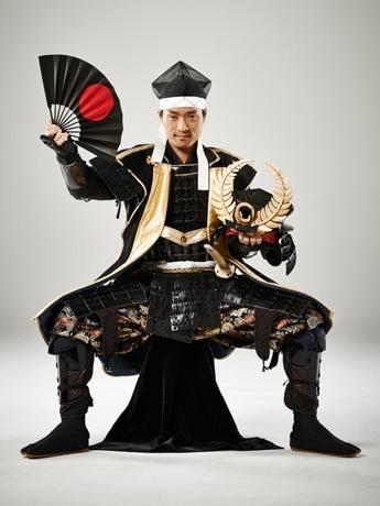 対談イベント「将軍談義」に登場する名古屋おもてなし武将隊の徳川家康