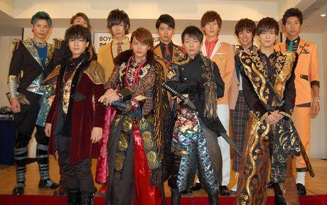 映画「サムライ・ロック」製作発表会見を行った「BOYS AND MEN」