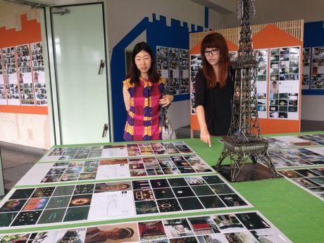 2013年に名古屋テレビ塔で開催された「名古屋百人百景展」