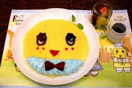 名古屋パルコに期間限定オープンした「ふなっしーCafe」。写真は一日限定20食の「ふなっしーパンケーキ」