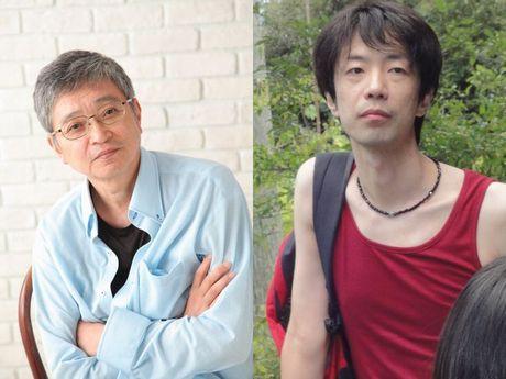 「TOKUZO」でトークセッションを行う北村想さん(左)と諏訪哲史さん
