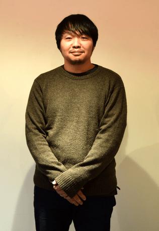 「アートラボあいち長者町」で滞在制作をする黒田大祐さん