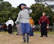 名古屋城で「名古屋おもてなし武将隊」出立式 陣笠隊の章右衛門が卒業