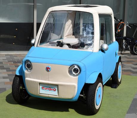 布製ボディーの小型電気自動車「rimOnO」