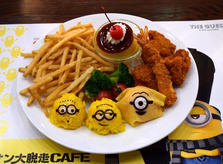 名古屋パルコで「ミニオン大脱走カフェ」。写真は「ミニオンがいっぱい!おこさまランチ」