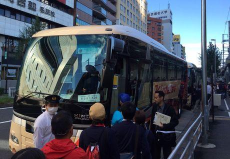 名古屋グランパスがアウェー応援バスツアー開催。写真は昨年のアウェーバスツアーのようす