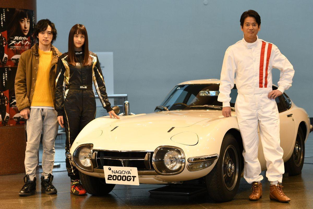 (右から)唐沢寿明さん、山本美月さん、上遠野太洸さん