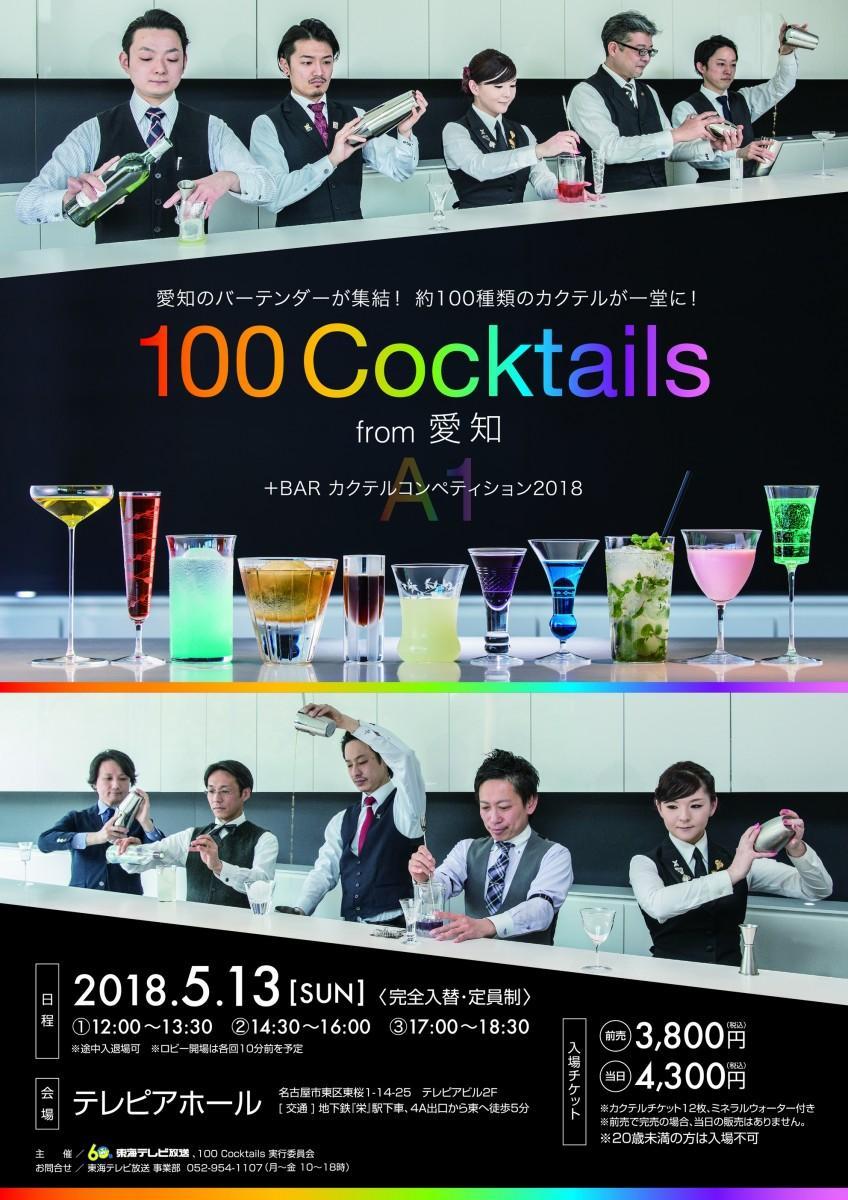 テレピアホールで開催される「100 Cocktails from 愛知+BAR カクテルコンペティション2018」