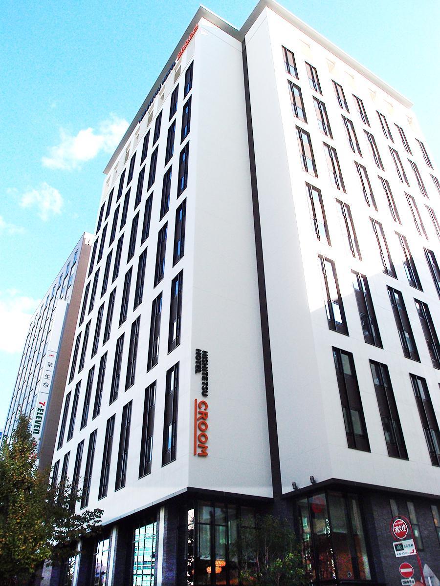 開業に向け建設を進める「西鉄ホテルクルーム名古屋」の現在の外観