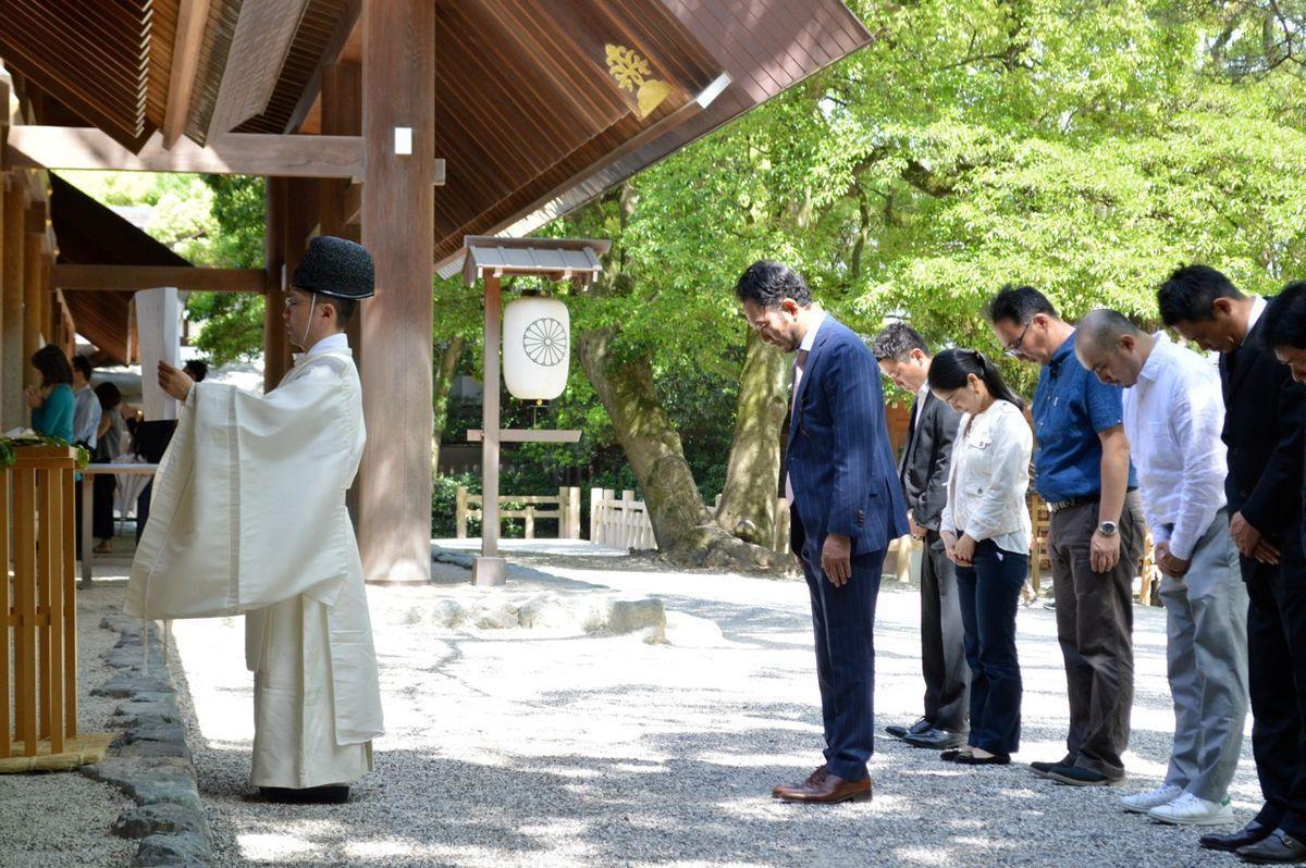 熱田神宮で行われた映画「名も無い日」成功祈願