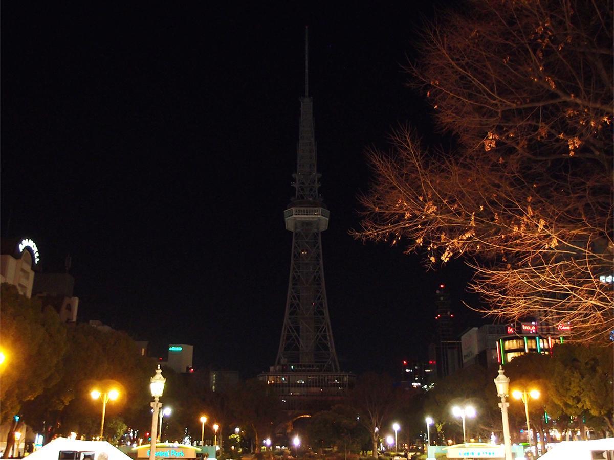 ライティングが消灯した名古屋テレビ塔
