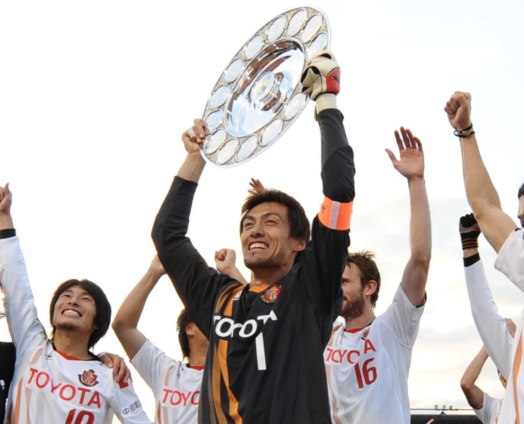 名古屋グランパスで活躍した名GK楢崎正剛さん(現クラブスペシャルフェロー)の「手型モニュメント」を制作するクラウドファンディングが開始(C)N.G.E.