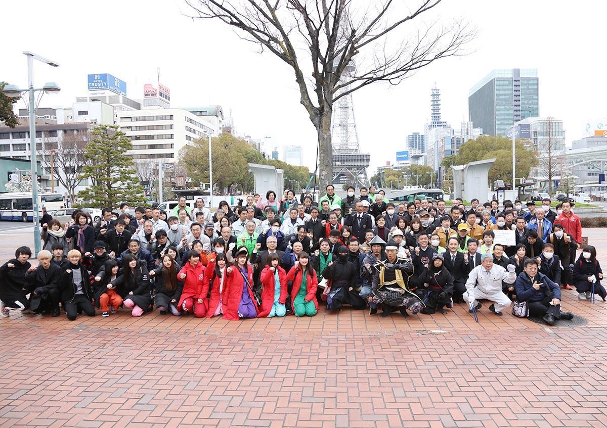 過去に開催したクリーンアップ参加者の集合写真(画像提供=NPO法人久屋大通発展会)
