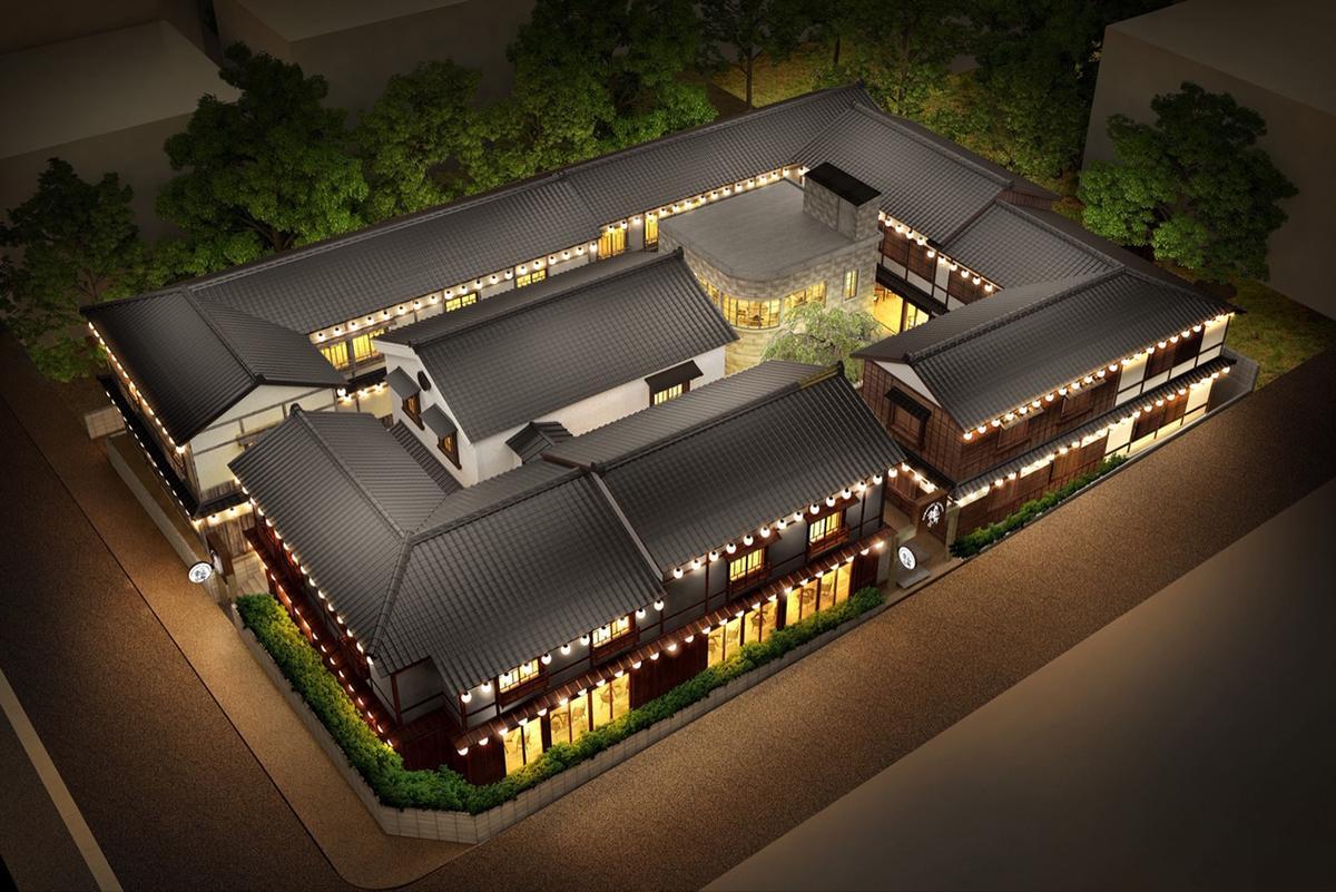日本茶屋街をイメージした商業施設「金山小町」完成イメージパース(画像提供=金山小町)