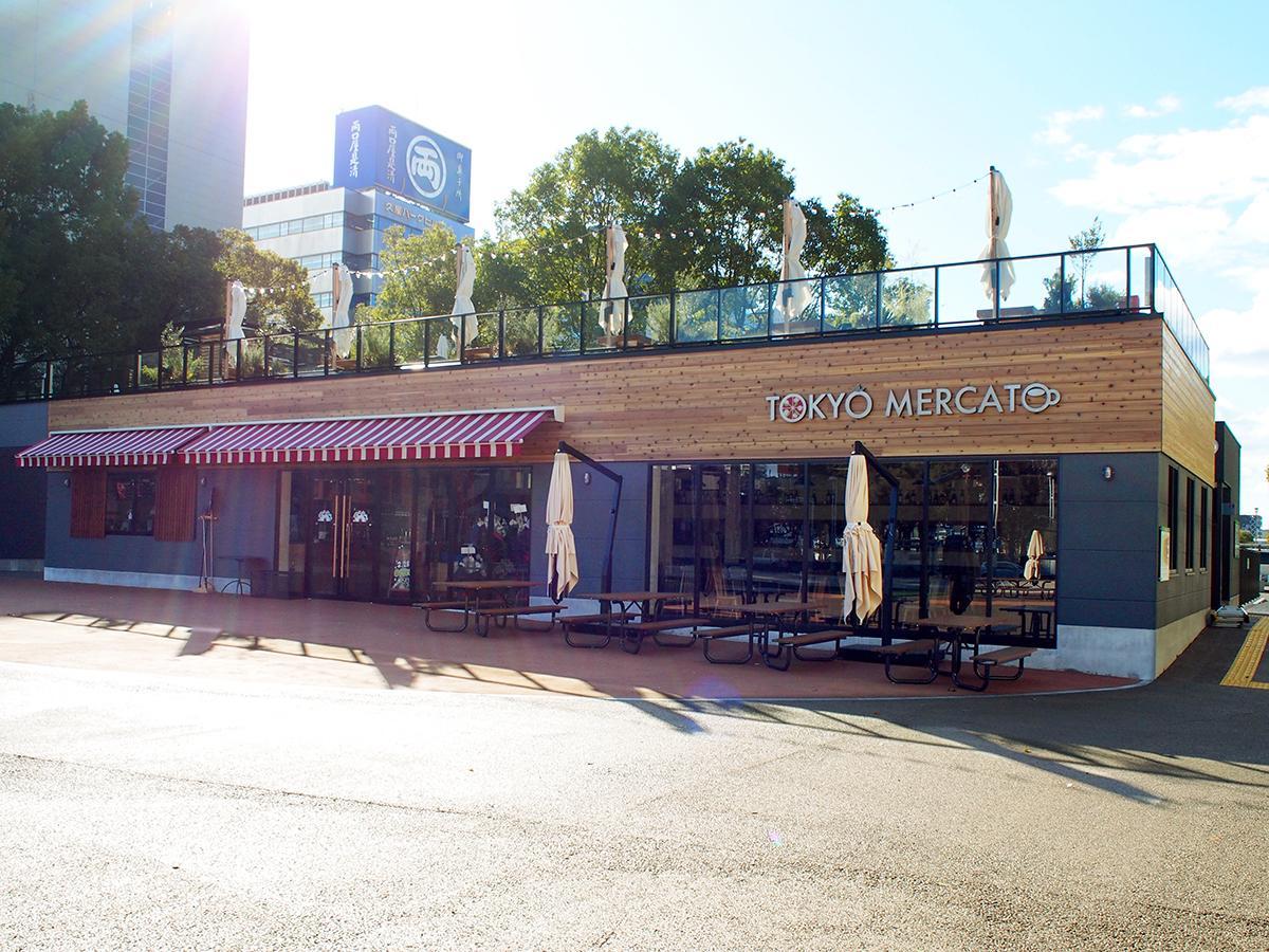 オープンを控える「TOKYO MERCATO ミツコシマエ ヒロバス」外観