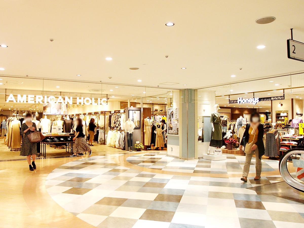 リニューアルオープンした「メルサ栄本店」2階の様子