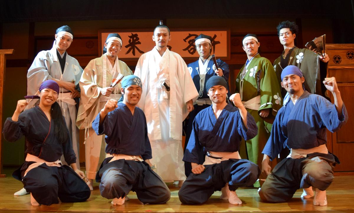 大須演芸場で行われた「毎月武将隊 水無月」