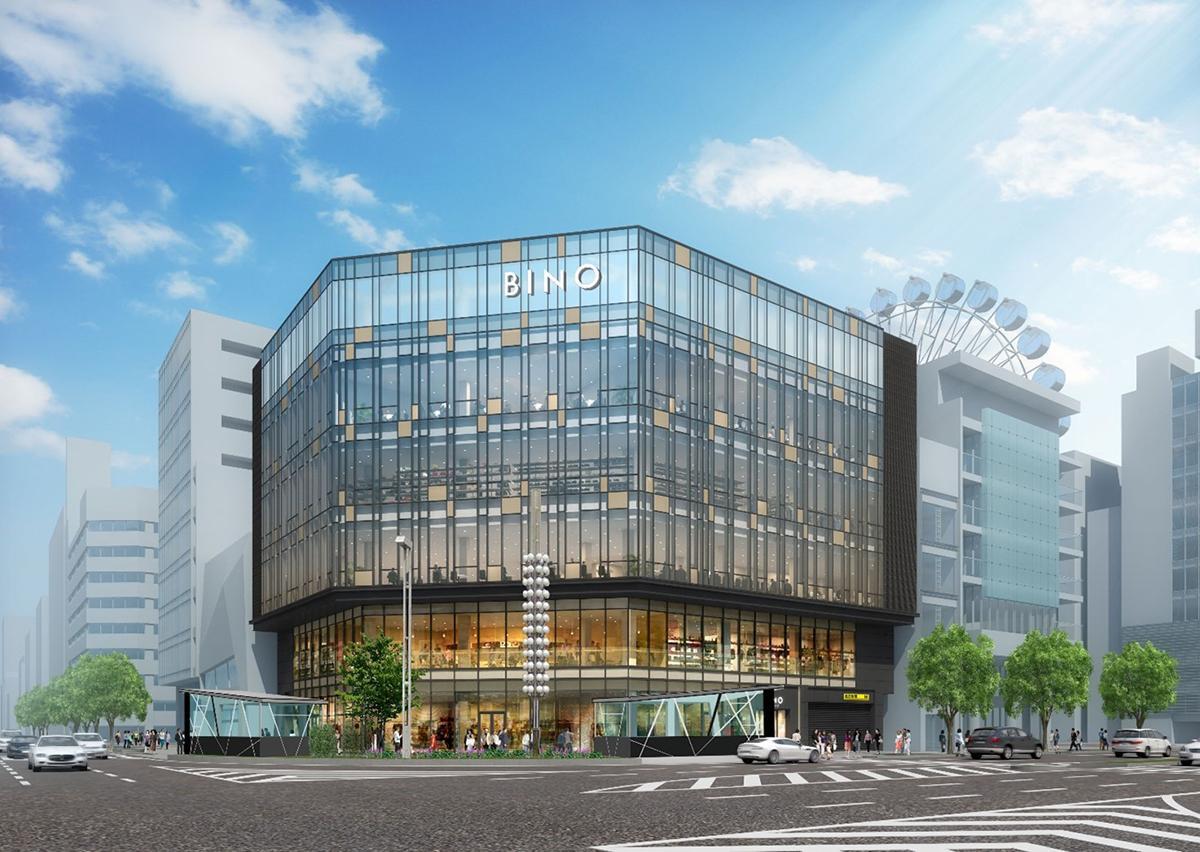 11月6日に開業する商業施設「BINO栄」外観イメージパース