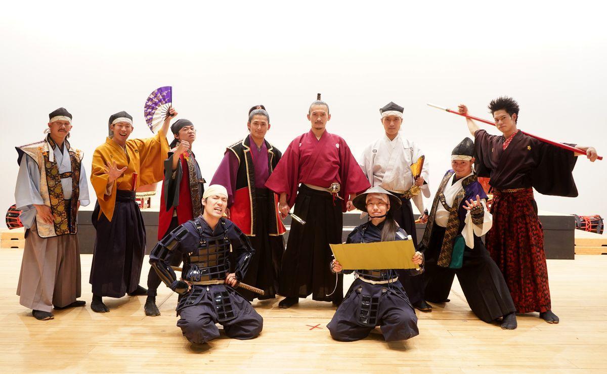アートピアホールで11周年祭を行った「名古屋おもてなし武将隊」