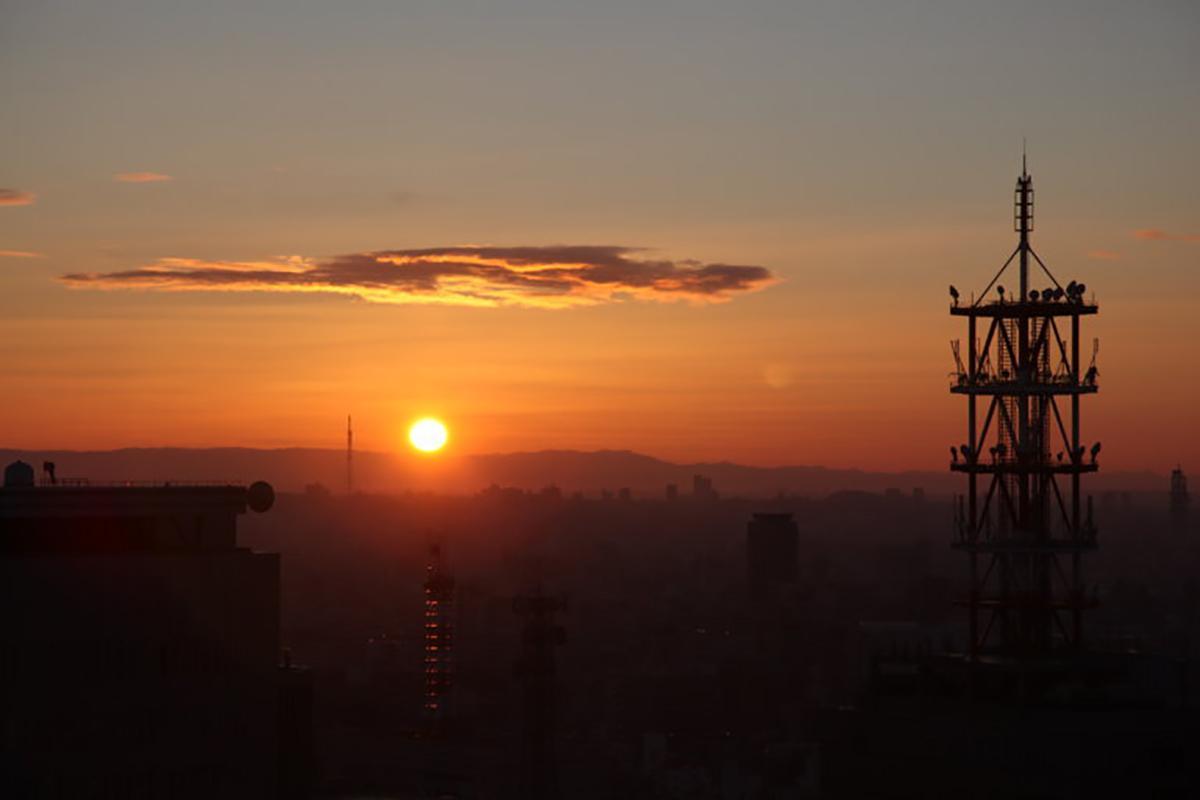 2019年の名古屋テレビ塔からの初日の出の写真(画像提供=名古屋テレビ塔)