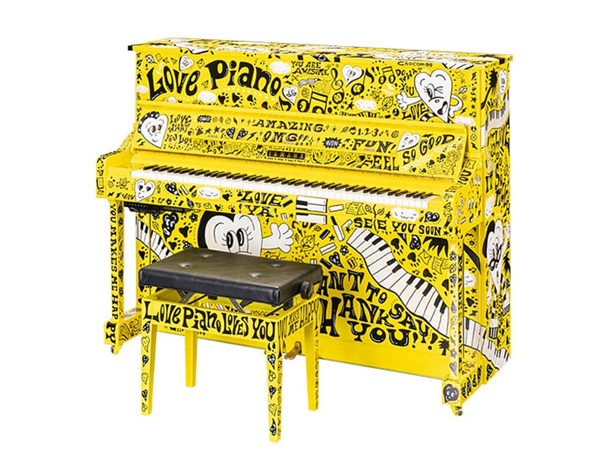 サカエチカの「クリスタル広場」に登場する「LovePiano」5号機(イメージ、画像提供=ヤマハミュージックジャパン)