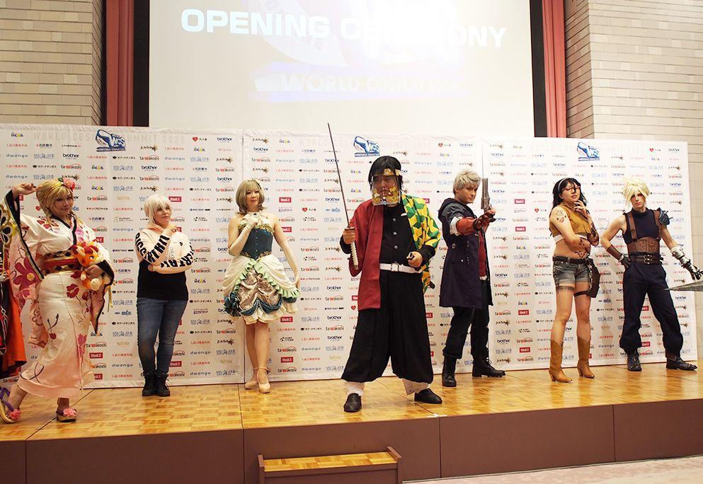 昨年開催された「世界コスプレサミット2020 ONLINE」の様子。オープニングセレモニーでは河村たかし名古屋市長が「鬼滅の刃」の登場人物「冨岡義勇」のコスプレで登場