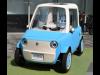 栄で布製ボディーの小型電気自動車「リモノ」展示 公道走行実験目指し資金募る