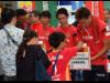 栄オアシス21でグランパス選手が街頭募金活動 北海道胆振東部地震災害の支援に