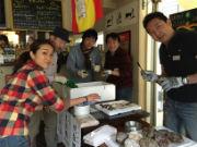 三軒茶屋のワインバルで「牡蠣小屋」 東日本大震災復興支援イベント