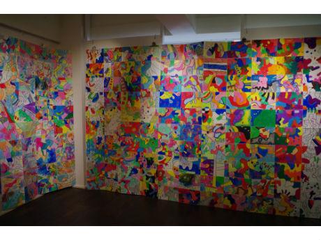 「ギャラリーキッサ」(台東区浅草橋)に展示された作品