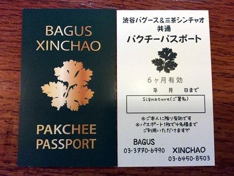 パクチーパスポートの現物