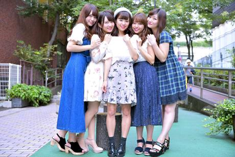 ミス駒沢の候補者5人(画像:駒沢大学企画研究会)