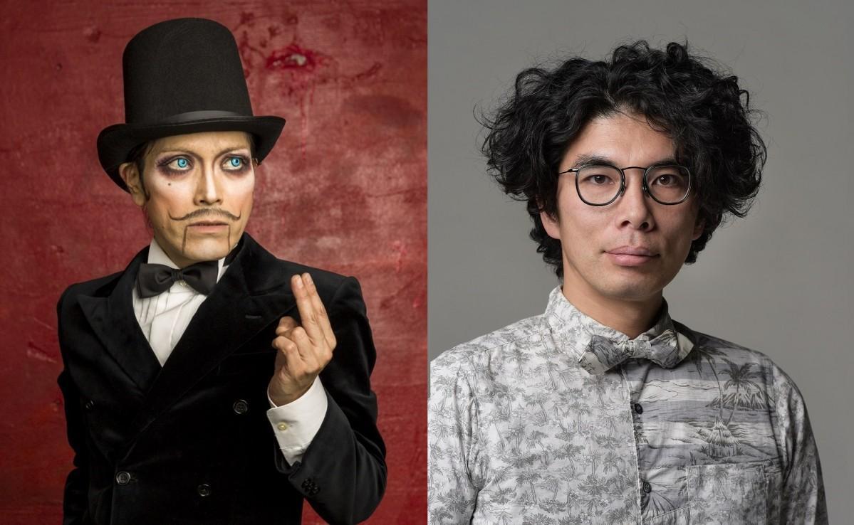ROLLYさん(左)と片桐仁さん(右)
