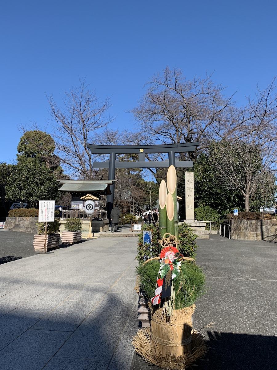 正月の松陰神社(過去の様子)