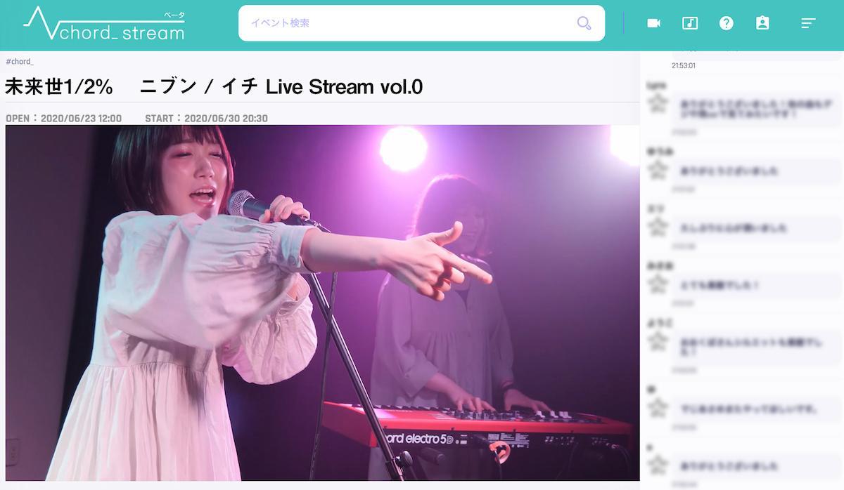 「chord_ stream」