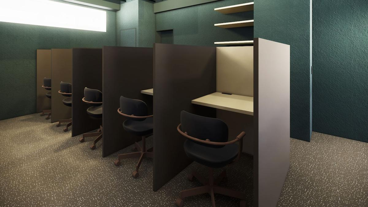 半個室型ブース席のイメージ
