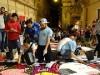 三軒茶屋で花のアートイベント 地域住民が「ウェルカムカーペット」を創作