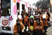三陸鉄道に桜ペイントの新車両ー運行再開記念で桜の開花を先取り