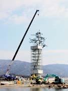 陸前高田「奇跡の一本松」、枝葉取り付け復元完了-震災シンボルとして保存