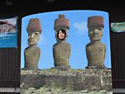 南三陸にモアイの「顔ハメ看板」登場-被災地でも旅の思い出は「笑顔」で