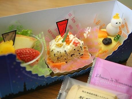コンテストの最後を飾った冬のグランプリ「新感覚駅弁 スイーツ風」(950円)