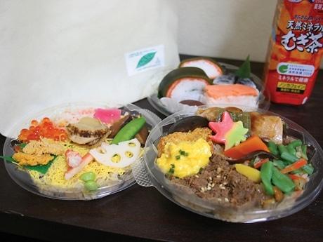 「海鮮サミット」「肉サミット」「お土産サミット」の3パックで構成する「北海道洞爺湖サミット『おもてなし』記念駅弁」