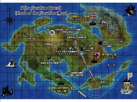 「ススキノクエストII」のマップ「薄野大陸」。同イベントを企画した「BAR一慶」の本間一慶さんが自ら制作した
