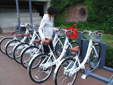 札幌都心部の数カ所に設置するポロクルの駐輪場(サイクルポート)