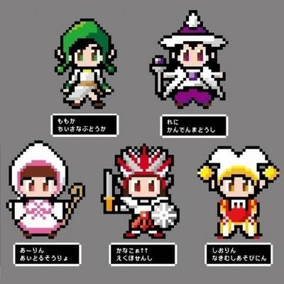 メンバーのゲーム風ビジュアル©tv asahi